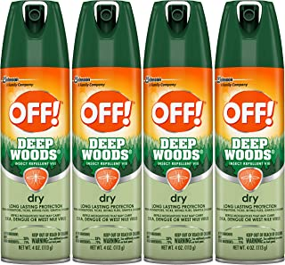 OFF! Deep Woods Insect Repellent VIII Dry, 4 oz, 4 ct