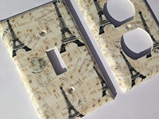 Paris Eiffel Tower Light Switch Cover Various Size Light Switchplates Offered