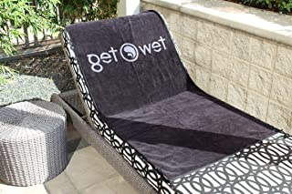 Oversize Premium Plush Cabana Towel by Tew Teg | Black and Gray | 1 Classic, Beach and Pool House Towel
