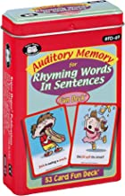 Super Duper Publications | Auditory Memory for Rhyming Words in Sentences Fun Deck | Phonemic Awareness and Listening Skills Flash Cards | Educational Learning Materials for Children
