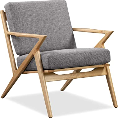 Edgemod Skane Natural Lounge Chair, Dark Grey