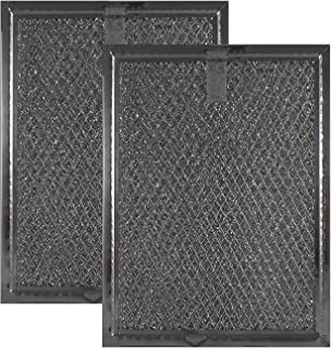 Air Filter Factory 2 Pack Compatible Replacement for Frigidaire FGMV174KFA Microwave Mesh Grease Filters 6 x 8 x 3/32 Inches AFF81-M2