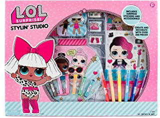L.O.L. Surprise! Stylin' Studio by Horizon Group Usa, Create LOL Surprise Paper Dolls, DIY Activity Books, Scratch Art, Sticker Sheet, Coloring Pages, Markers, Crayons & More