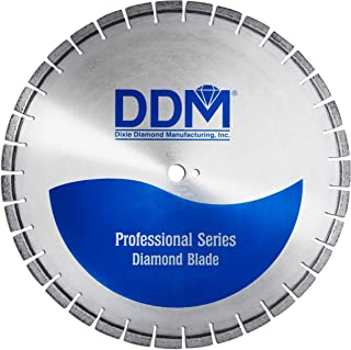Dixie Diamond Manufacturing E2026165R Professional Wet Cutting Cured Concrete Electric Saw Blade, 26-Inch x 0.165-Inch