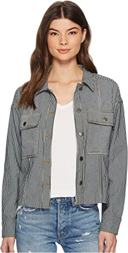Splendid - Starboard Indigo Stripe Double Pocket Jacket