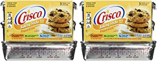 Crisco, Baking Sticks, Butter Flavor, All Vegetable Shortening, 20oz Package (Pack of 2)