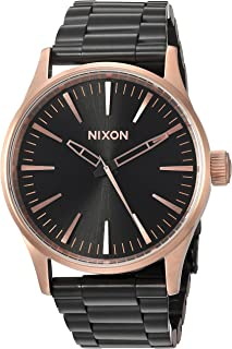 Nixon Women's 'Sentry 38 SS' Quartz Metal and Stainless Steel Watch, Color:Black (Model: A4502481-00)