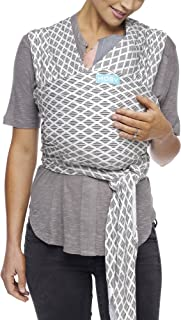 Moby Evolution Baby Wrap Carrier (Diamonds) - Toddler, Infant, and Newborn Wrap Carrier - Wrap Baby Carrier Ideal for Parents On The Go - Ergonomic Baby Wrap for Mom Or Dad - A Registry Must Have