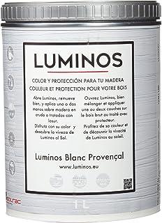 Luminos LUM1100 Lasur Protector Madera, Blanco Provenza