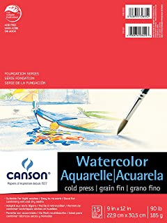 """Canson Foundation Series Watercolor Pad 9"""" x 12"""" 100511022"""