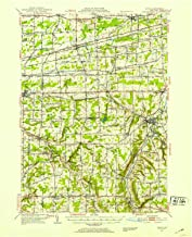 YellowMaps Attica NY topo map, 1:62500 Scale, 15 X 15 Minute, Historical, 1949, Updated 1953, 20.9 x 17 in