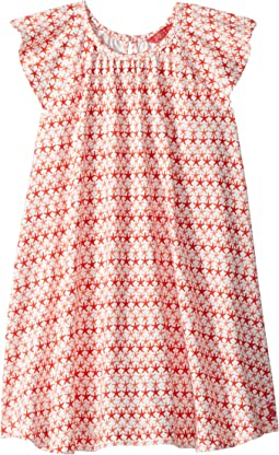 Jersey Frill Sleeved Dress (Toddler/Little Kids)