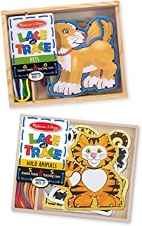 Melissa & Doug Lace and Trace Set of 2 - Pets and Wild Animals