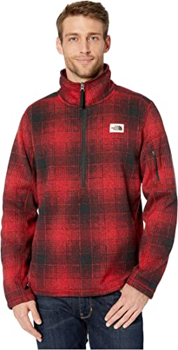 Cardinal Red Ombre Plaid Small Print