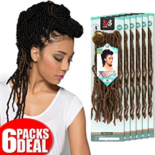 [6PACKS DEAL] Bobbi Boss Synthetic Pre-Made Loop Crochet Braiding Hair Nu Locs 14