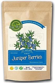 Juniper Berries   15 oz - 425 g, Reseable Bag   Whole Juniper Berries MEDITERRANEAN CROPS   100% Natural   Premium Grade, Freshly Packed
