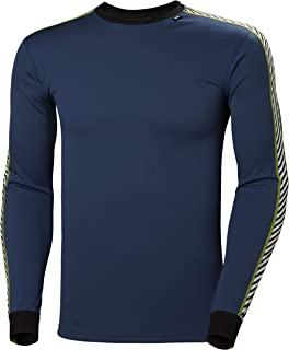 Helly Hansen Hh LIFA Stripe Lightweight High Performance Long-Sleeve Crewneck Thermal Baselayer Top