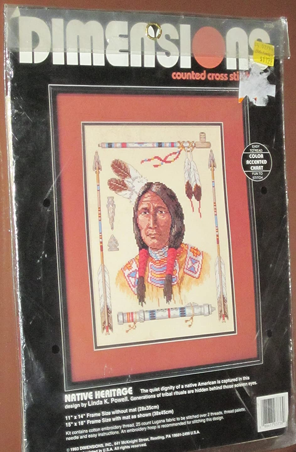 Native Heritage Counted Cross Stitch Kit