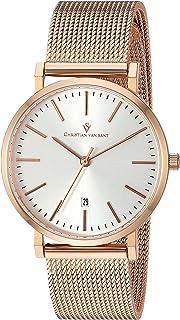 Christian Van Sant Women's Paradigm Quartz Watch with Stainless-Steel Strap, Rose Gold, 16 (Model: CV4222)