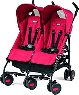 Peg Perego Pliko Mini Twin Baby Stroller, Mod Red