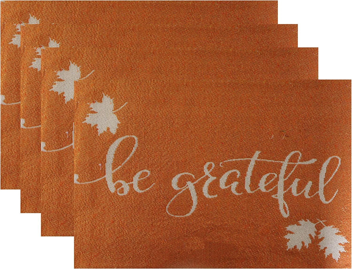 Gilbin Tapestry Table Placemats for Dinner Parties Be Grateful Event D/écor Set of 4