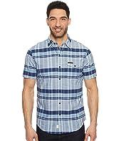 U.S. POLO ASSN. - Short Sleeve Slim Fit Plaid Shirt