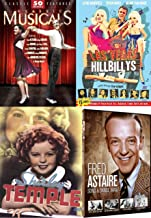 Over 50 Classic Musical Movies Bundle with America's Sweetheart Shirley Temple and Fred Astaire & Las Vegas Hillbillys Mamie van Doren Jayne Mansfield 18-DVD Bundle