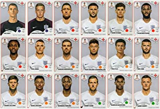 PANINI WORLD CUP 2018 STICKERS - 18 ENGLAND STICKERS - TEAM SET - PLAYERS ONLY #574 - #591