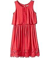 Ella Moss Girl - Kali Dress w/ Crochet Trim (Big Kids)