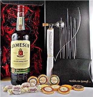 Geschenk Jameson irischer Whiskey  Glaskugelportionierer  Edelschokolade  Fudge