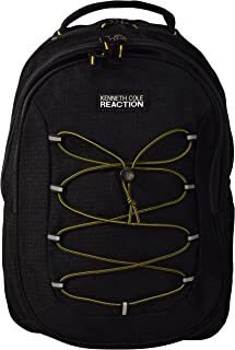 Kenneth Cole Reaction Laptop Backpack With Bungee Cords, Black