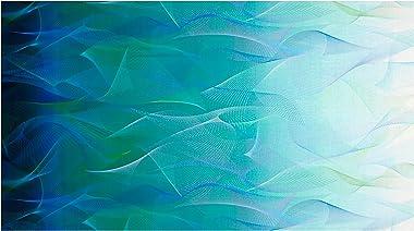 RJR Fashion Fabrics Reverie Digital Wisp Of Light Ocean Fabric By The Yard