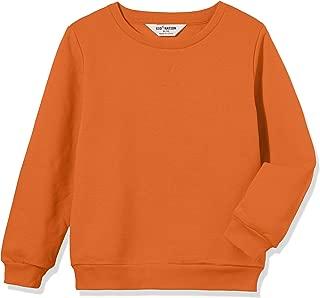 Kid Nation Kids' Slouchy Solid Brushed Fleece Sweatshirt for Boys or Girls
