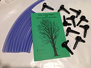 Maple Syrup Making Kit with 10 Taps, 10 Drop Lines, Sap Filter, Maple Syrup Guide Book.