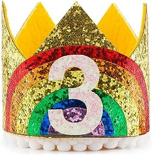ragazze Fascia per capelli per il primo compleanno per bambine ragazzi Coucoland delicati accessori per capelli corona per feste con coroncina e brillantini principessa fiore
