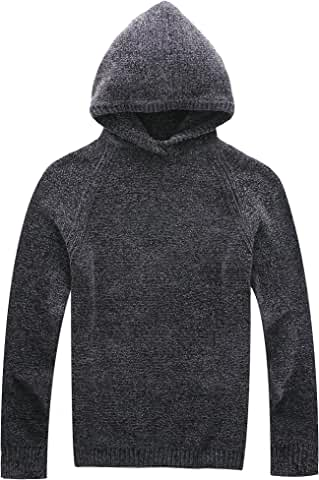 Vcansion Mens Classic Long Sleeve Fleece Knitted Sweaters