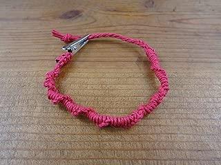 spiral knot hemp bracelet