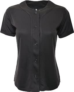 YoungLA Women Baseball Jersey Plain Button Down Shirt Tee 420