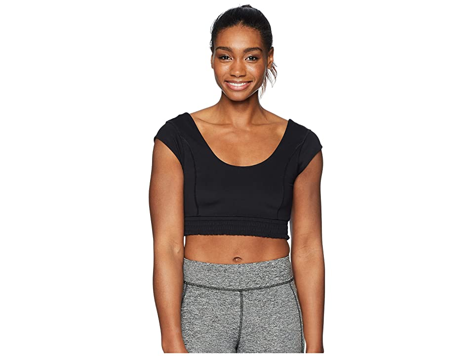 Free People Movement Starlight Crop Top (Black) Women