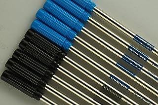 10 Genuine Intrepid Medium Ballpoint Refills for Cross Ballpoint Pens.Protective Seal on tip for Shelf Life Longevity (Bul...