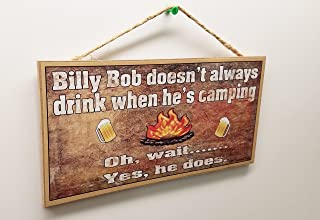 Blackwater Trading Personalized Your Name Don't Always Drink When he/she Camping Oh Wait he/she Does Camper 5
