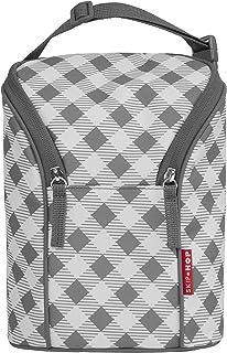 Skip Hop Baby Bottle Bag, Grab & Go, Grey Gingham