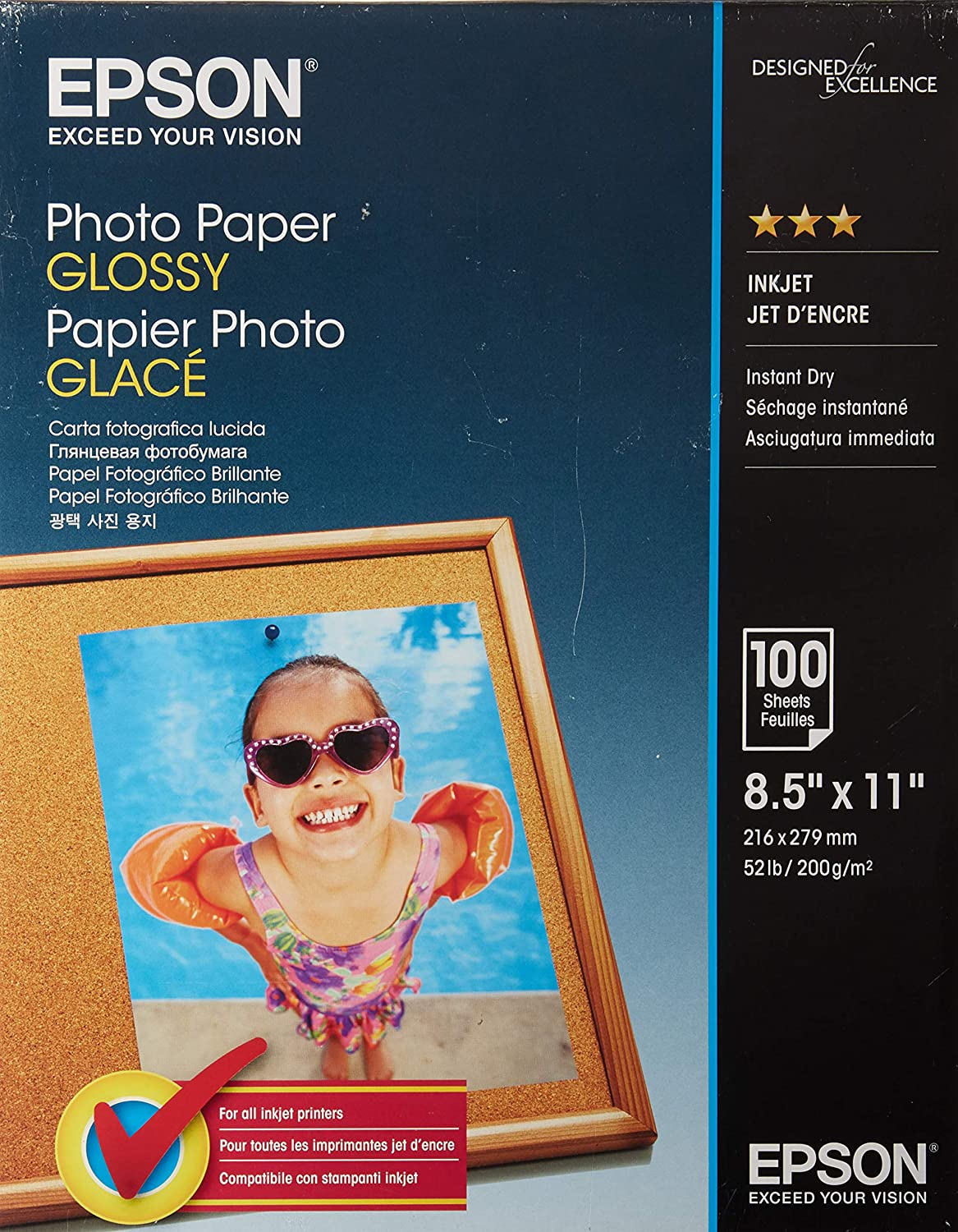 Nippon regular agency Epson Glossy Courier shipping free Photo Paper for Reprints and Everyday Photos PAPER