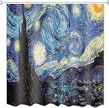 A.Monamour Impresión Estrellada De La Noche Impresión De La Pintura Al Óleo De Vincent Van Gogh Impresión Impermeable Resi...