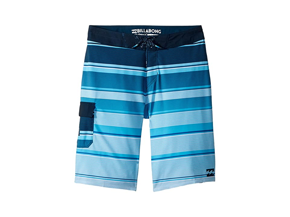 Billabong Kids All Day X Stripe Boardshorts (Toddler/Little Kids) (Navy) Boy