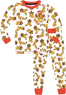 Disney Pijama para Niños La Guardia del León Ajuste Ceñido