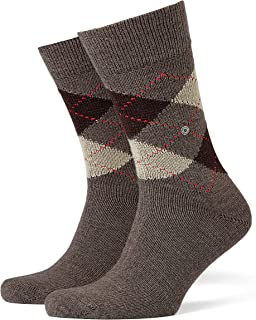 FALKE Men's M SO Burlington Preston Socks-Warm and Soft, (Brown 5256), UK 6.5-11 (Size: 40-46), 1 Pair, (EU Ι US 7.5-12)