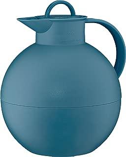 alfi Kugel Glass Vacuum Frosted Plastic Thermal Carafe for Hot and Cold Beverages, 0.94 L, Vintage Indigo
