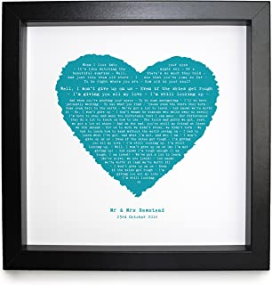 Jason Mraz、も私はあきらめない、自分好みの額入りプリントハート–理想的な結婚記念Personalizedロマンチックギフト