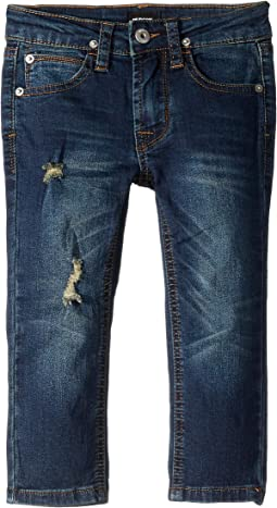 Jagger Slim Straight French Terry Jeans in Ripped Rippedo (Toddler/Little Kids/Big Kids)
